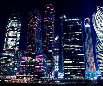 Moscow City de noche