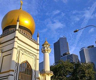La mezquita del sultan en Singapur