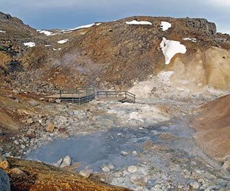 Zobas geotermicas en Islandia