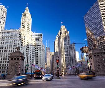 ruta de viaje de chicago