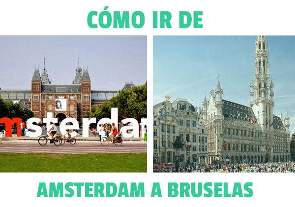 Como ir de Amsterdam a Bruselas