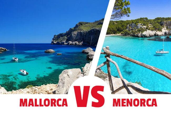 Viajar a Mallorca o a Menorca