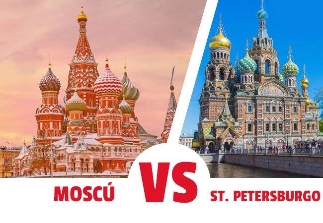 Que es mejor visitar Moscu o San petersburgo